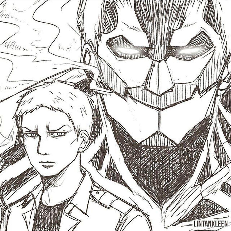 Reiner Titan Acorazado Naruto Manga Colorido Desenhos Naruto