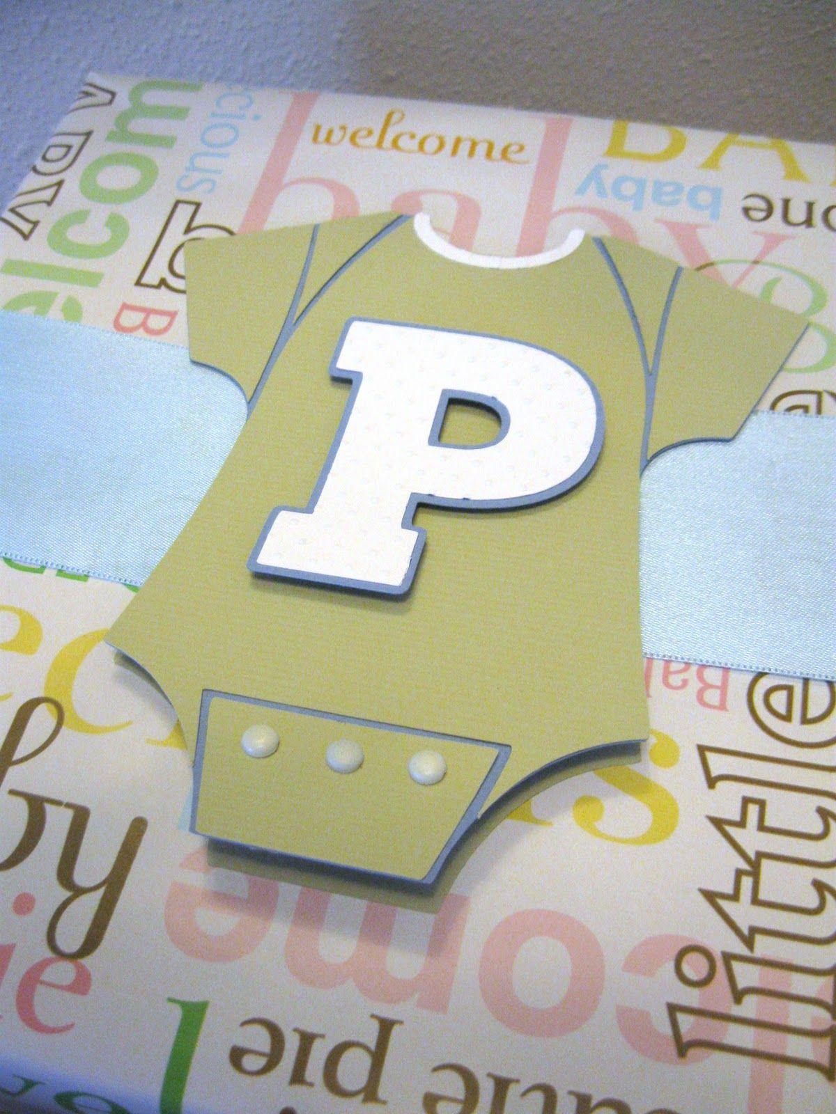 Cricut Baby Shower Cards