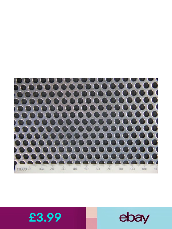 3mm Hole 5mm Pitch 1mm Thickness Ss304 Perforated Mesh Sheet 200 X 200mm Sheet Diy Materials Perforated Mesh