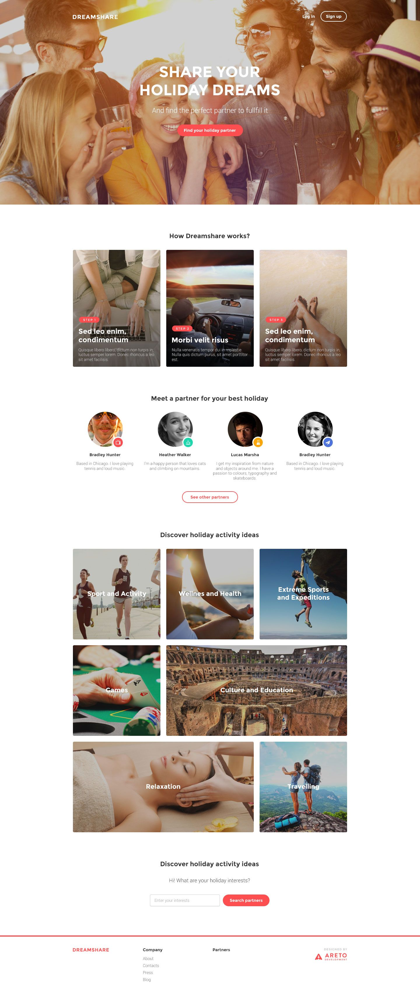 Free responsive landing template | Website Templates | Pinterest