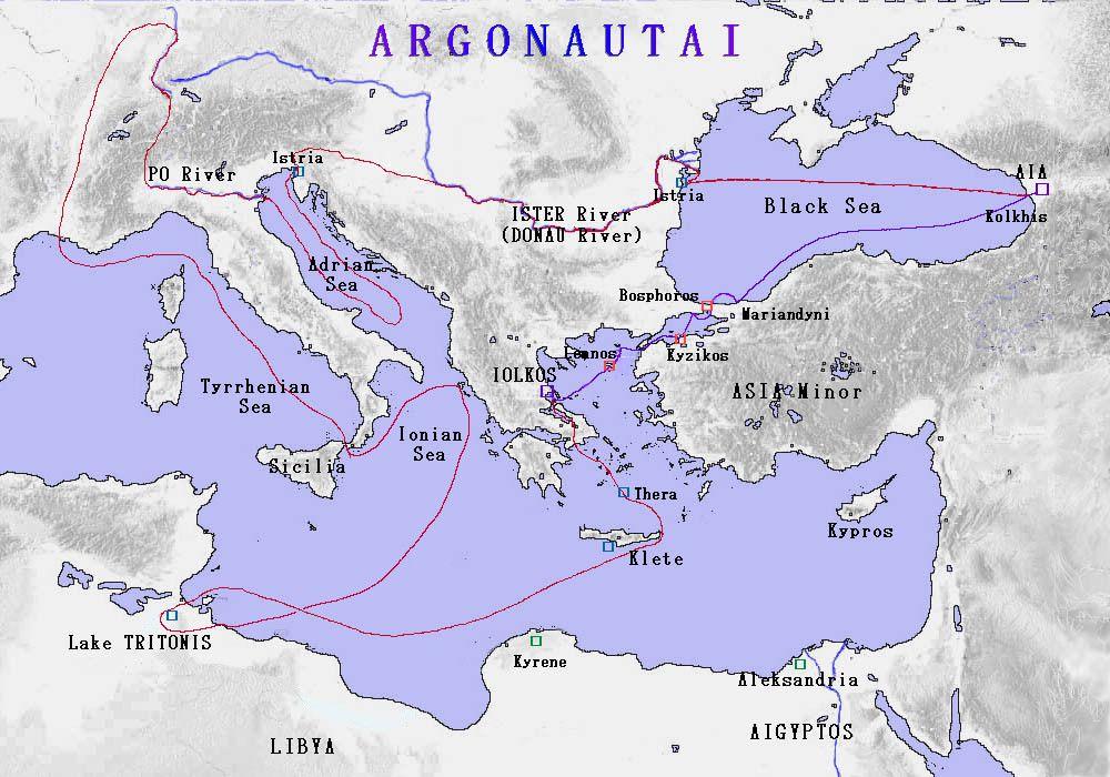 MS Argonautai route revised Argonautica