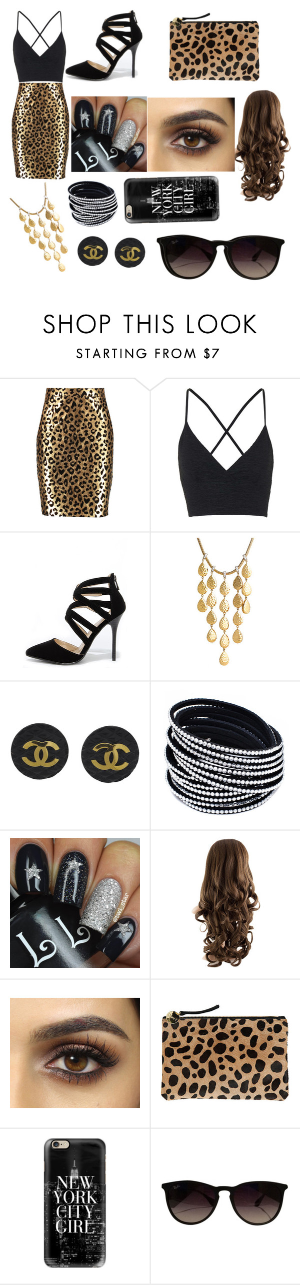 """""""Diva girl"""" by fashion-designer4703 ❤ liked on Polyvore featuring Milly, Topshop, Anne Michelle, John Hardy, Chanel, Clare V., Casetify, Ray-Ban, women's clothing and women's fashion"""