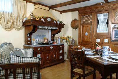 disegno » cucine soggiorno rustiche - ispirazioni design dell ... - Soprammobili Cucina