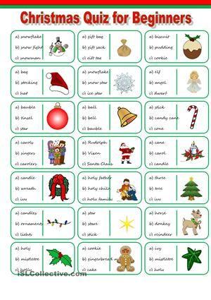 Christmas Vocabulary Quiz | christmas time | Pinterest ...
