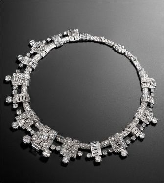 This Cartier art-deco diamond necklace circa 1936 is one of the many stunning pieces on offer