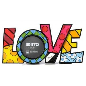 """Cadre Photo """"LOVE"""" de Romero Britto"""