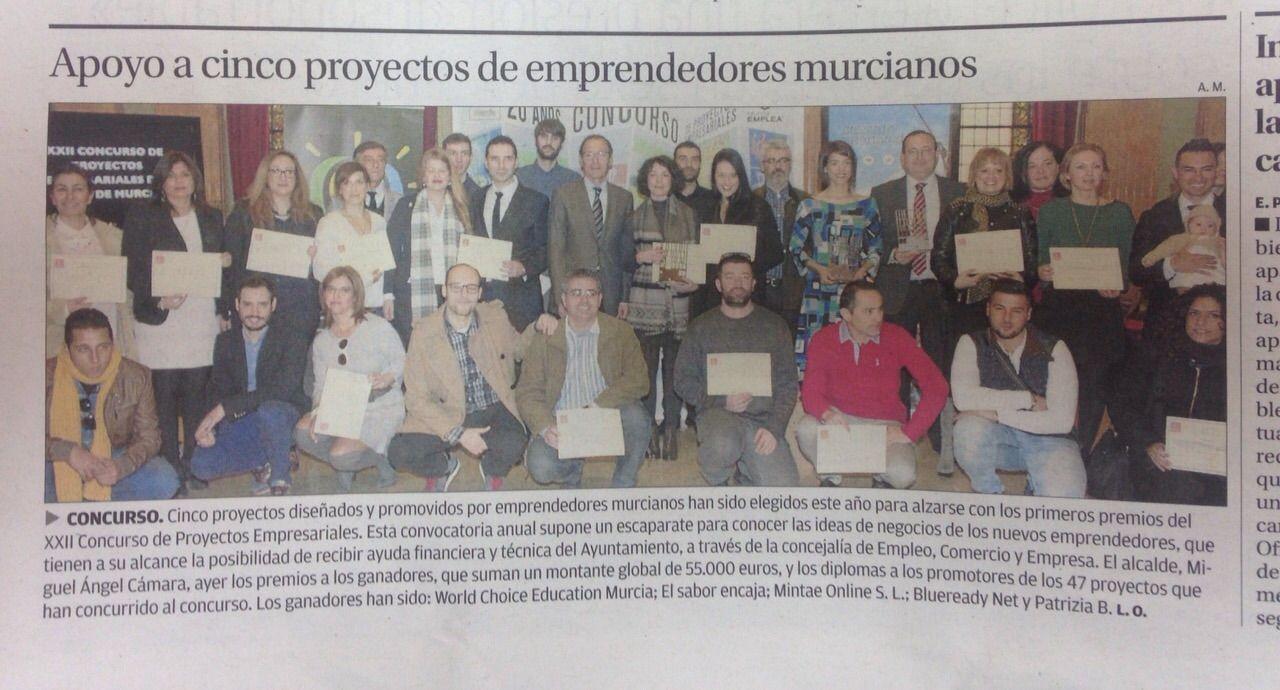 Entrega Premios Empresariales 9 feb 2015 Diario La Verdad