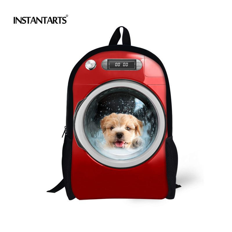 d8a06d73185e INSTANTARTS Cute Puppy Dog Printed Children School Bags Primary School  Bookbags for Teenager Boys Mochila Kids