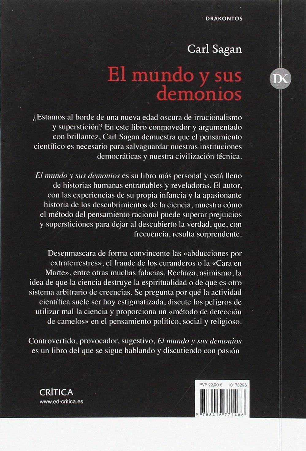 El mundo y sus demonios: La ciencia como una luz en la oscuridad Drakontos #
