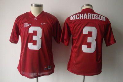 Youth NCAA Alabama Crimson #3 Trent Richardson red jerseys ...