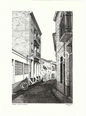 Almansa Calle La Estrella Dibujo A Plumilla Sobre Papel