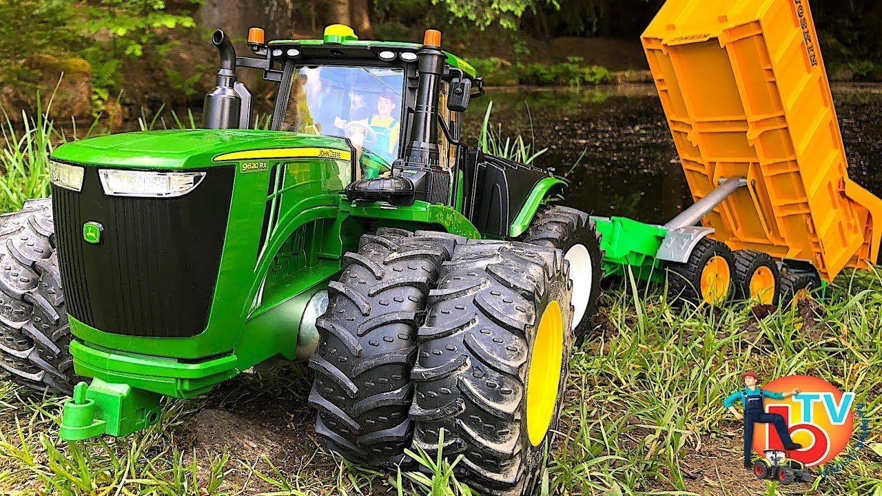 BRUDER Toys TRACTOR NEW RC JOHN DEERE & Joskin trailer Mac Plus, John Deere  Tractors