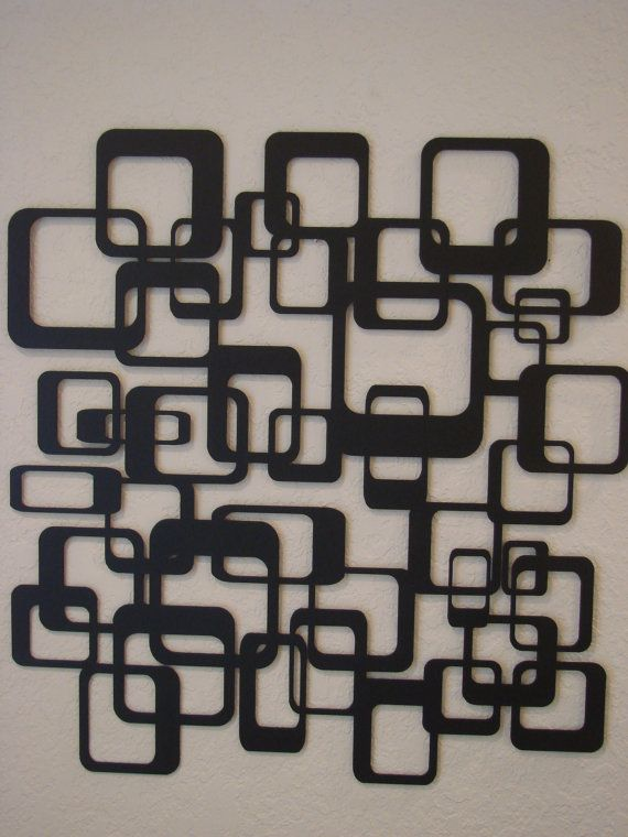 Retro Abstract Metal Wall Art | Abstract metal wall art ...