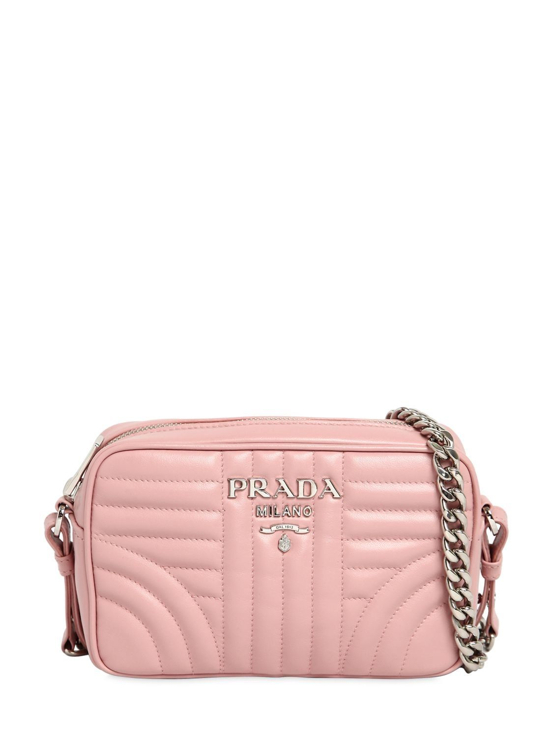 430c782b97760e PRADA SMALL QUILTED SOFT LEATHER CAMERA BAG. #prada #bags #shoulder bags  #leather #