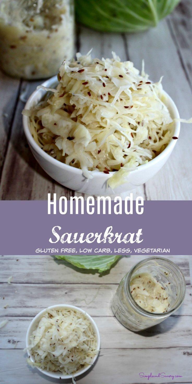 Homemade Sauerkraut Vegetarian Gluten Free Vegetable