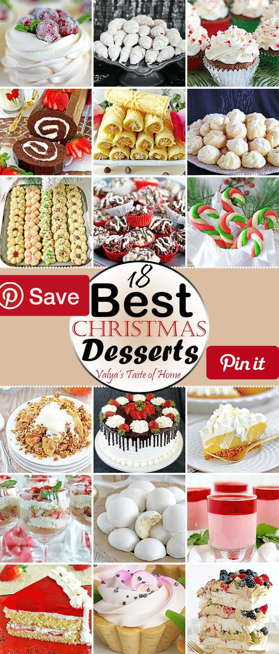 18 Best Christmas Desserts I like to plan ahead the recipes Ill be