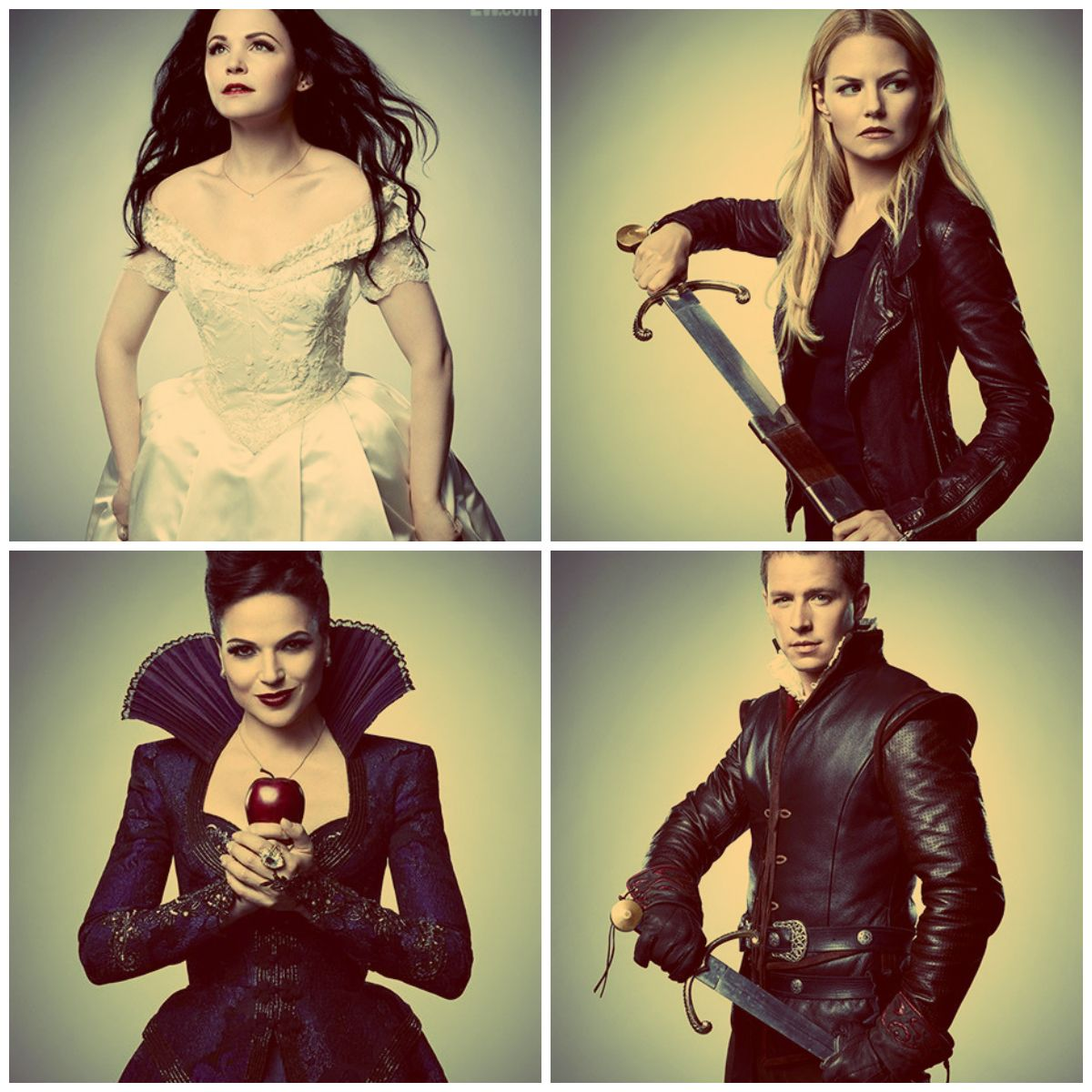 Snow White, Emma, Evil Queen, Prince Charming on Once Upon ...