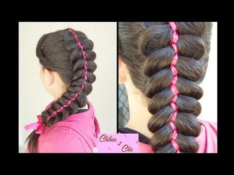 5 Strand Ribbon Dutch Braided Hairstyles Cute Hairstyles Dutch Braid Hairstyles Braided Headband Hairstyle Ribbon Hairstyle