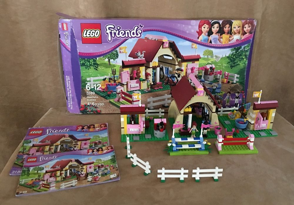 3189 Lego Complete Friends Heartlake Stables Horse Ranch Minifigures
