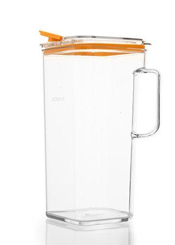 Komax Tritan Pitcher Orange Lid Sangria Pitcher Tea Pitcher Pitcher