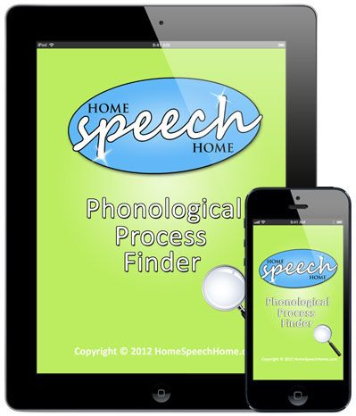 Phonological Process Finder App Preview Speech therapy