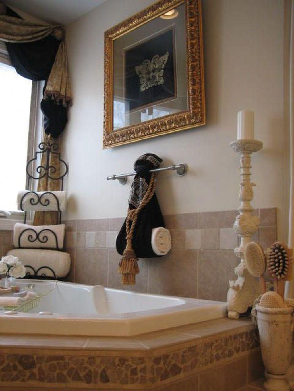 20 Totally Adorable Garden Tub Decorating Ideas Trenduhome Spa Bathroom Decor Bathtub Decor Bathroom Towel Decor