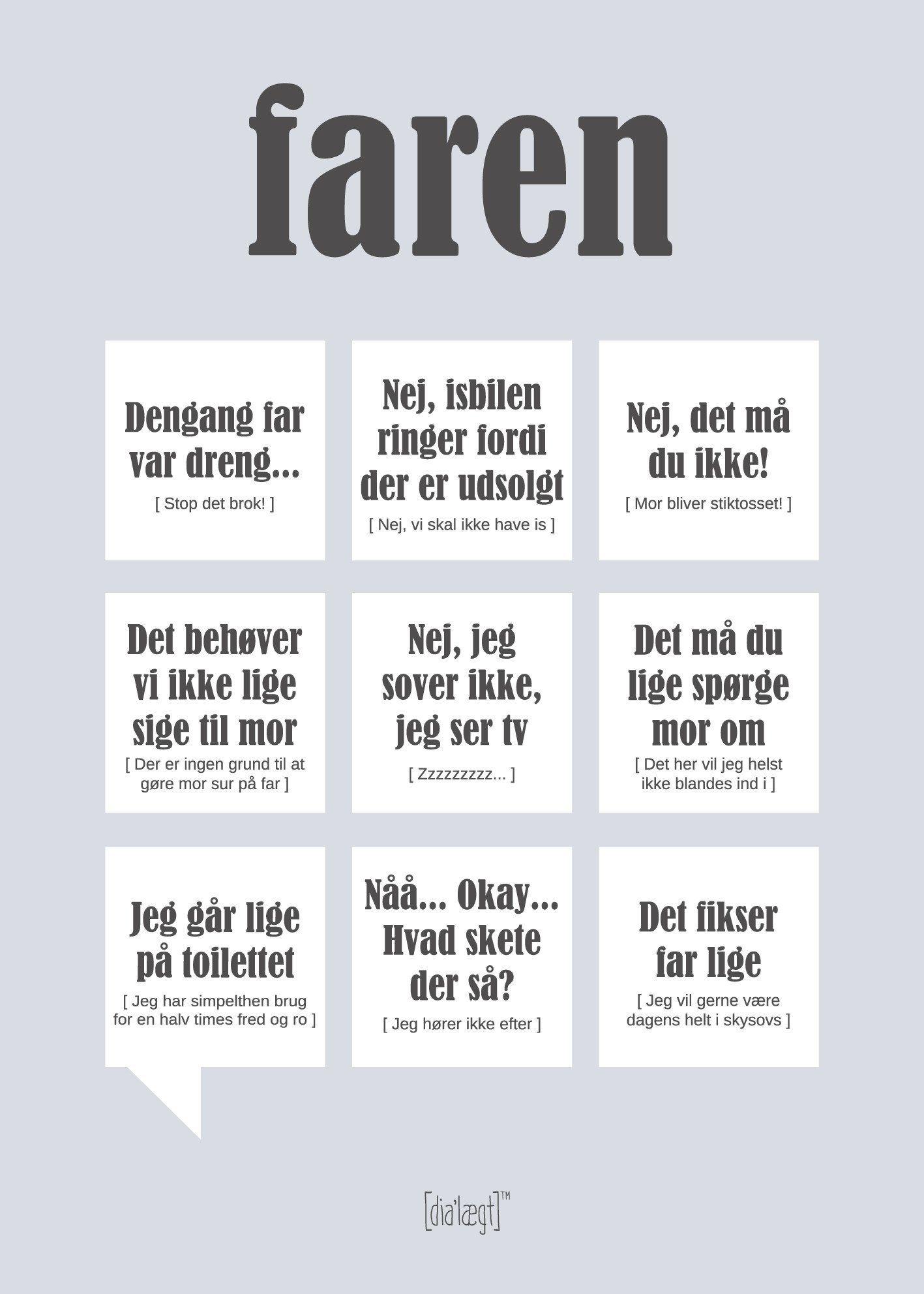Humoristisk Og Selvironisk Plakat Med Karakteristiske Laerer Udtryk Fa Kant Og Humor Ind I Stuen Med En Plakat Fra Dialaeg Sjove Citater Jokes Citater Sjove Sms