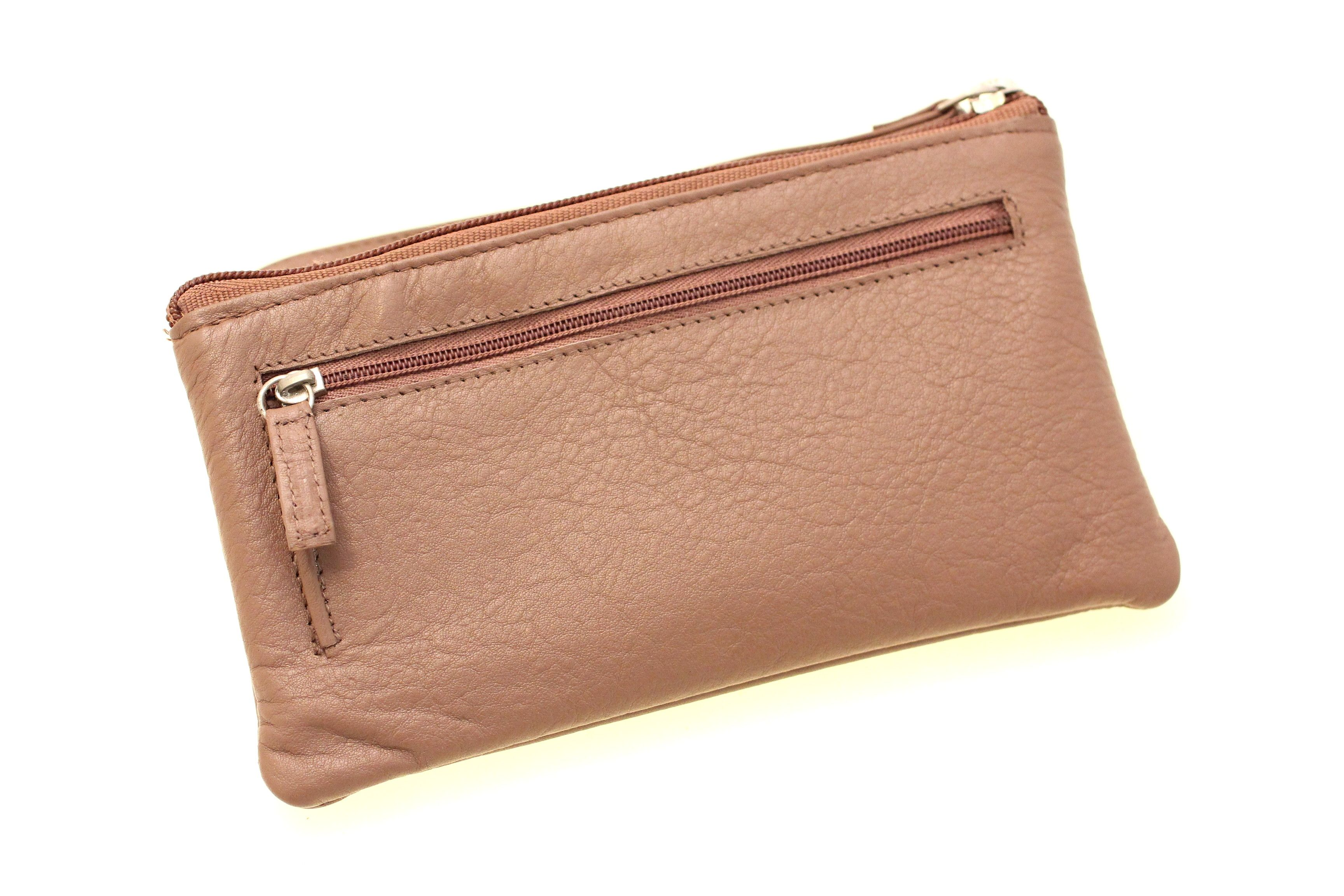 Leather cell phone wallet wristlet leather cell phone
