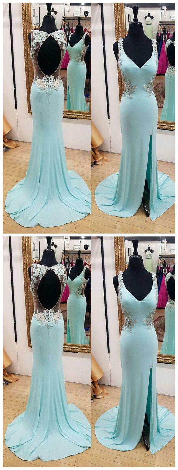 Baby blue mermaid long prom dress mermaid evening dress