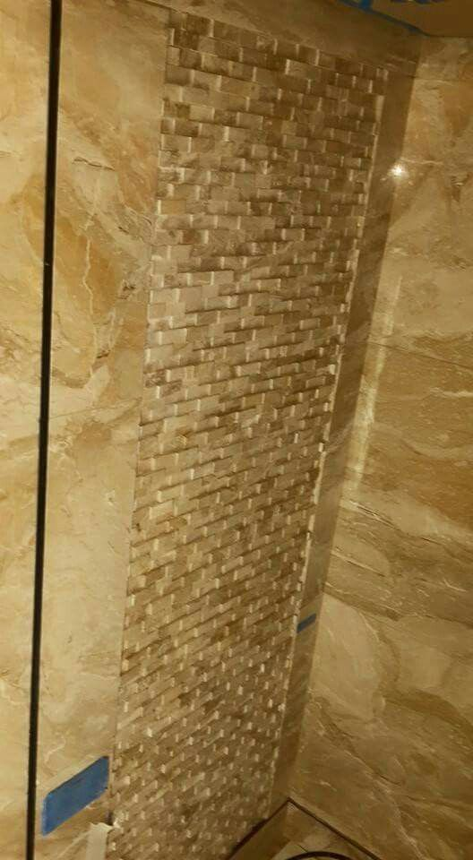 Breccia Oniciato Marble Wall feature mosaic