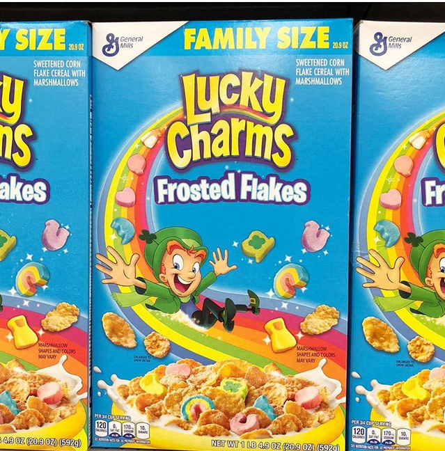 Lucky Charms Frosted Flakes Cereal In 2019