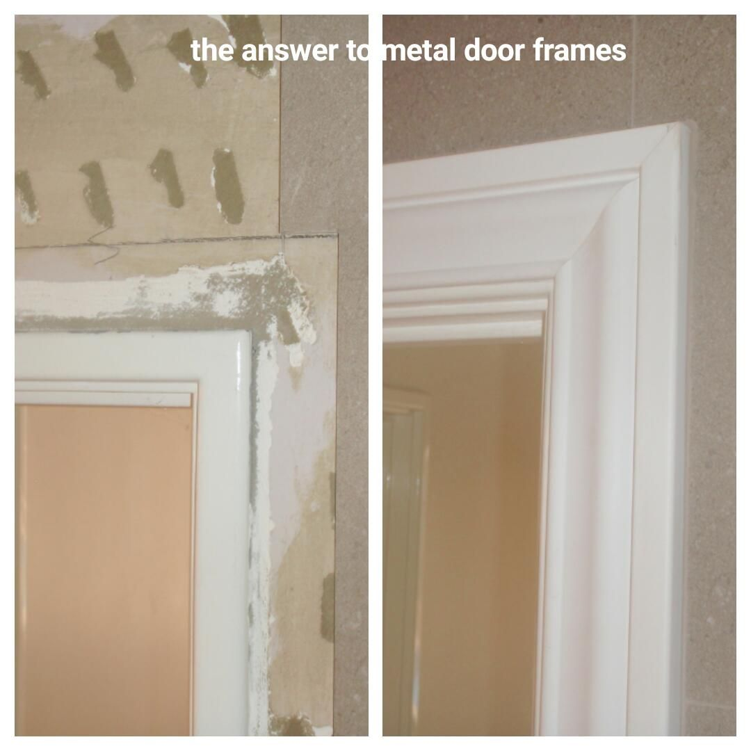 Fit Our Lightweight Door Frame Mouldings Onto The Existing Metal Architrave And Give Your Plain Door Frames Th Door Frame Molding Door Frame Framed Mirror Wall