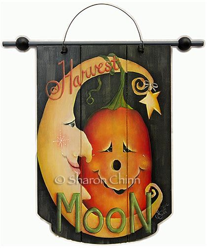 Harvest Moon Banner e-Pattern DOWNLOAD Patio Pinterest Harvest - halloween arts and crafts decorations