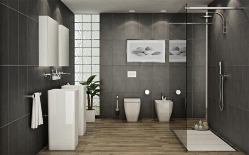 Superior Bathroom Design Ideas, Asian Zen Bathroom Design Modern Chinese Japanese  Style Monochromatic Black Whites Colors