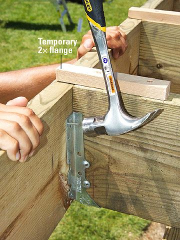 How To Hang Deck Joists Joist Hangers Hanging Deck