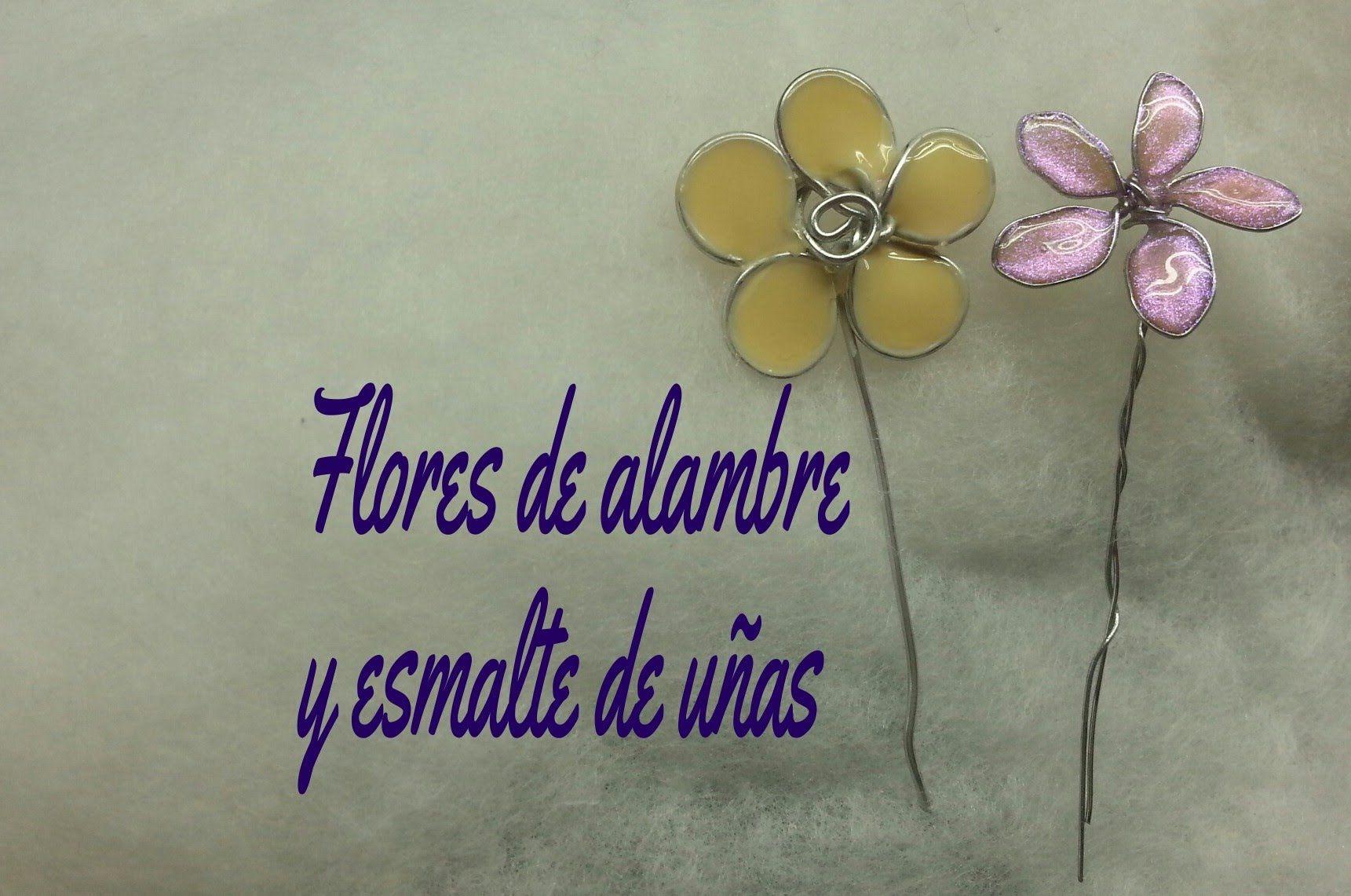 DIY Flores de alambre y esmalte de uñas ((tutorial) | Nakit so lak ...