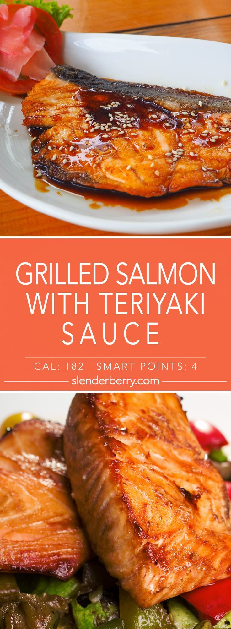 Grilled Teriyaki Salmon - Slenderberry