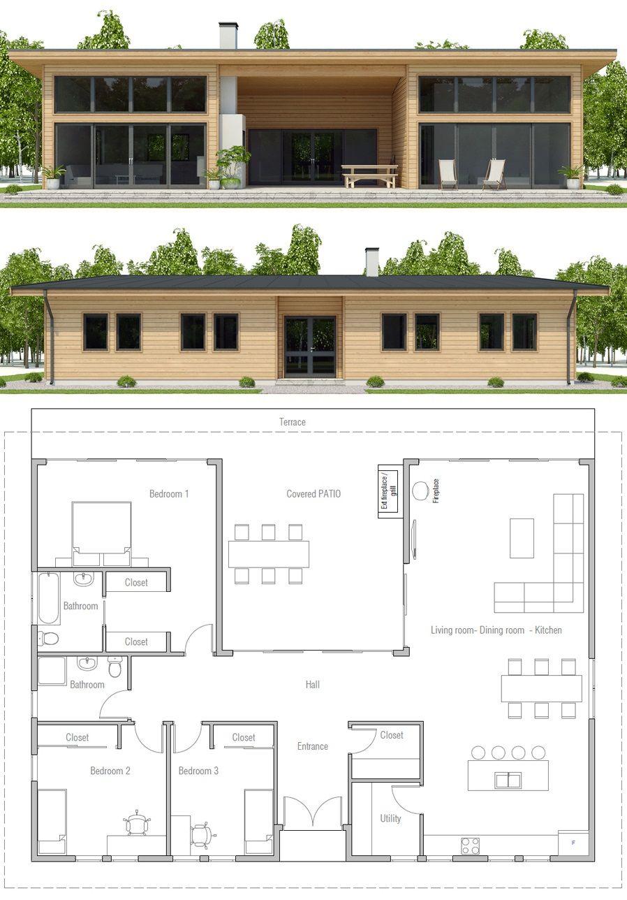 House Design House Plan Ch493 3 Dream House Plans Modern House Plans Small House Plan