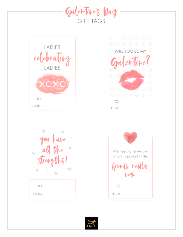 Galentine's Day Printable Gift Tags Free Printable is part of Free printable gift tags, Valentines printables free, Free gift tags, Gift tags printable, Printable gift, Gift tags - We all are familiar with Valentine's Day and everything that comes with it  For adults, there's fancy dinners and boxes of chocolates; for kids, there's…