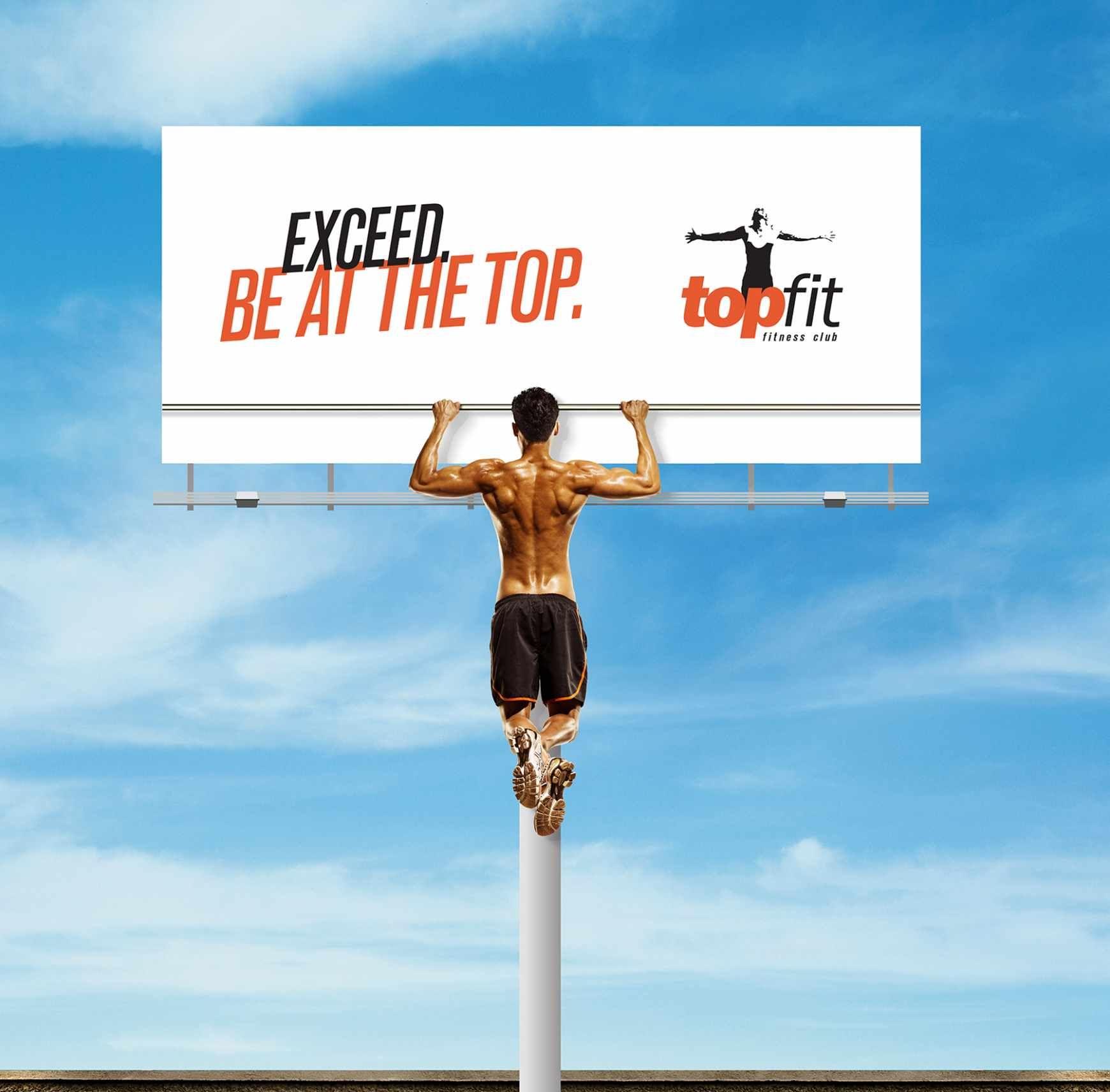 La campagna outdoor della #palestra Topfit è veramente… forte. I creativi hanno realizzato per il #fitness club 3 ideepoco convenzionali: un poster, un billboard e un adesivo sul retro di un a…