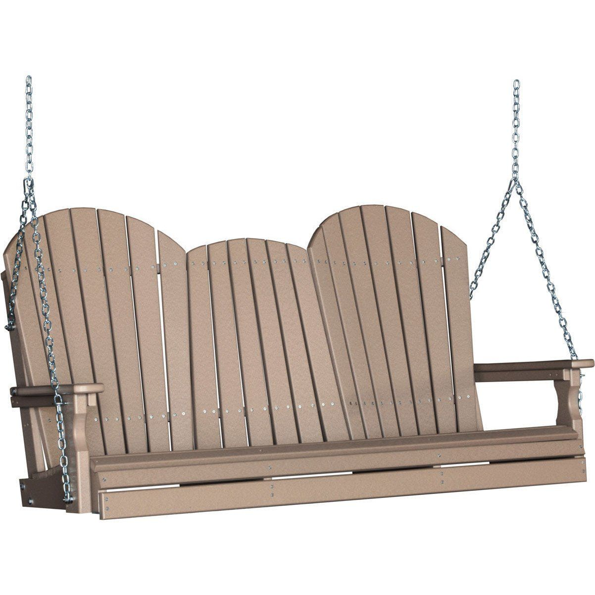 Luxcraft Adirondack 5ft Recycled Plastic Porch Swing With