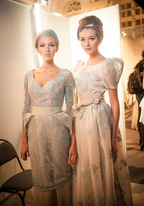 Backstage at Mercedes-Benz Fashion Week Russia Spring 2014 Collection