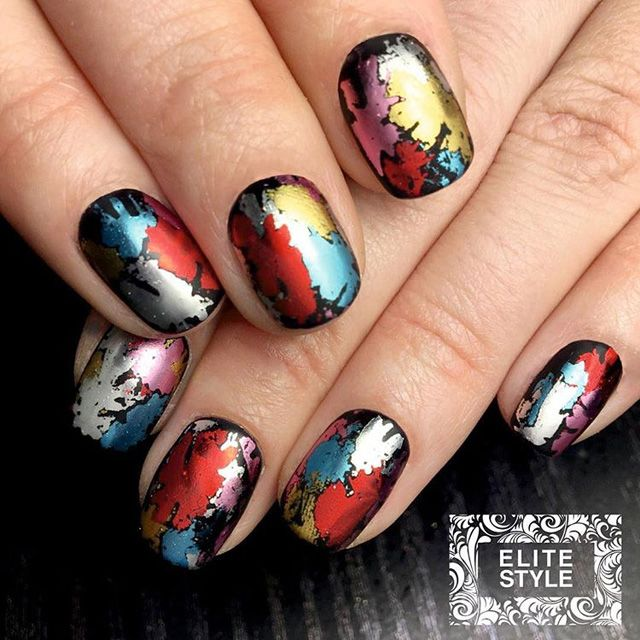 12 Brilliant Foil Nail Designs to Try This Weekend   Matte nails ...