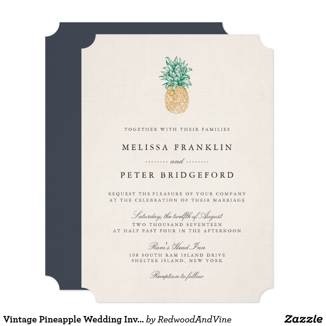 Vintage pineapple wedding invitation pinterest southern weddings vintage pineapple wedding invitation understated and elegant our vintage pineapple wedding invitation features a pineapple illustration at the top with stopboris Gallery