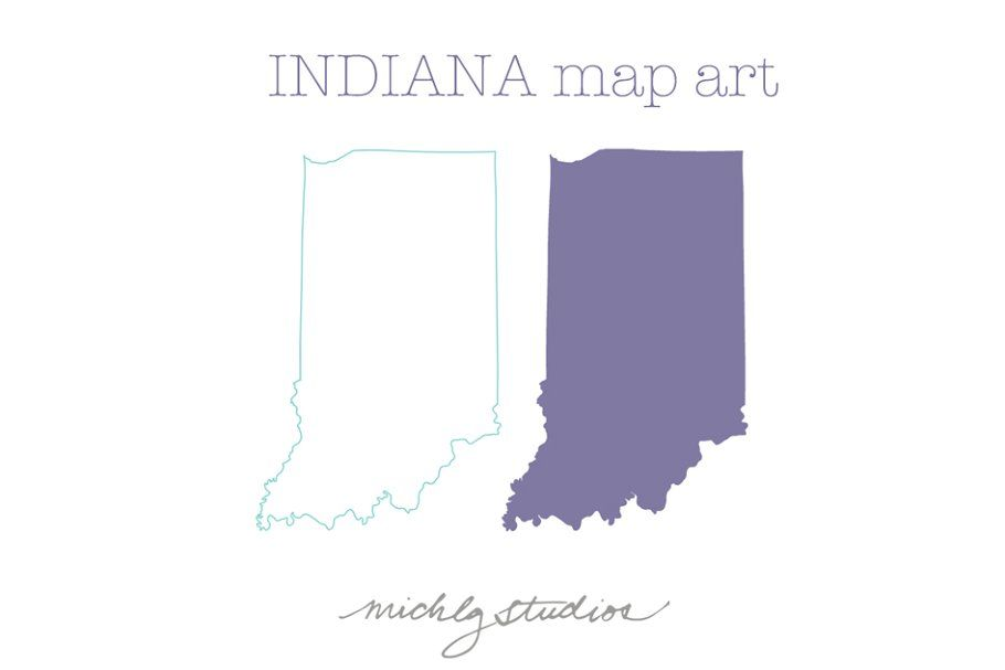 Indiana Vector Png Map Clipart Indiana Map Clip Art Map Art