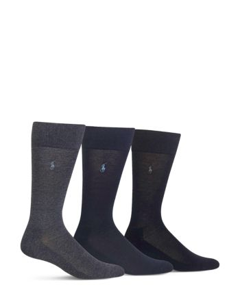d5891580 Polo Ralph Lauren Cushioned Crew Socks - Pack of 3 - Black in 2019 ...