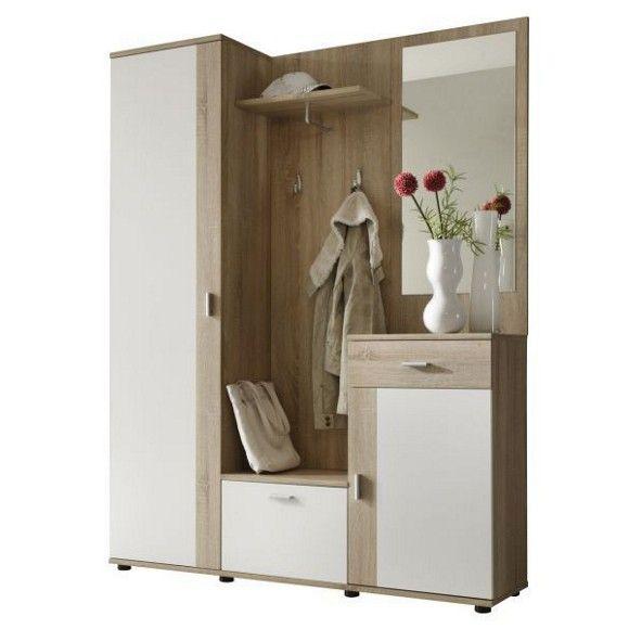 Garderobe Sonoma Eiche Weiss Hallway Furniture Hall Furniture