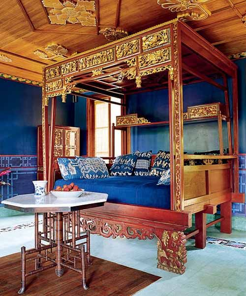 Bali Home Design: Chinese Indonesian Wedding Bed With Sumba Ikat Pillows