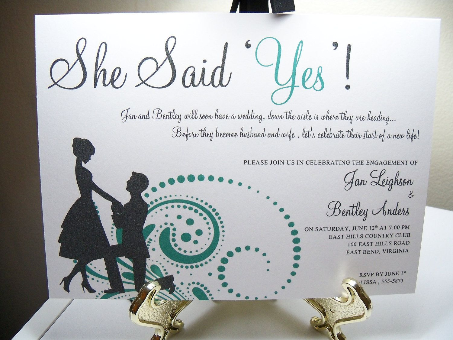 Engagement Party Invitation She Said Yes – Engagement Party Invitations Etsy