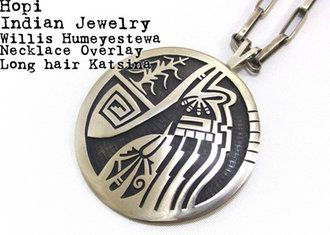 Photo of Hopi Indian jewelry silver necklace longhaircachina HOPI Necklace Long Haired